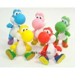 5 Color Yoshi Figure Set ~Super Mario Characters Figure