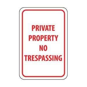TM59H   Private Property No Trespassing, 18 X 12, .063 Aluminum
