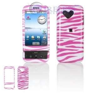 HTC Google G1/Dream Cell Phone Pink/White Zebra Design Protective Case