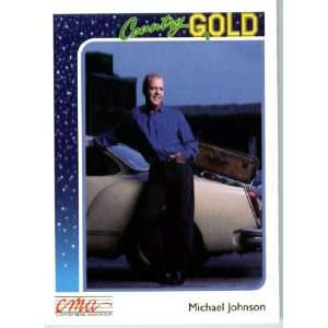 1992 Country Gold Trading Card #22 Michael Johnson In a