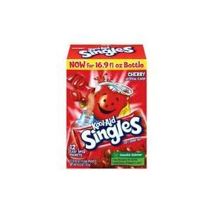 Kool Aid Singles Cherry 12 Count Packets (Pack of 12) (PACKAGEING MAY