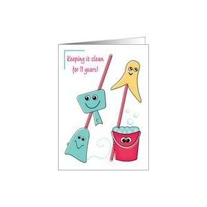 Recovery Birthday Anniversary 11 Years Card: Health & Personal Care