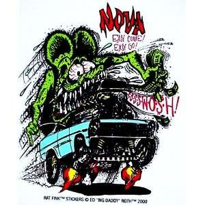 Rat Fink CHEVY NOVA Hot Rod Decal / Sticker Automotive