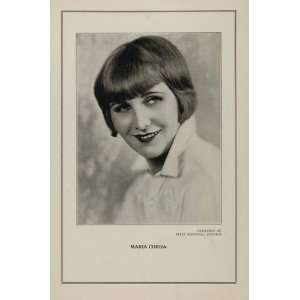 1927 Silent Film Star Maria Corda First National Print
