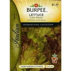 Italian   Lettuce, Leaf Lolla Rossa Seed Packet: Patio, Lawn & Garden