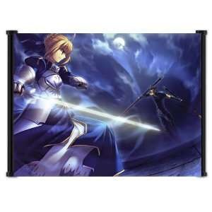 Fate Stay Night Anime Fabric Wall Scroll Poster (21x16