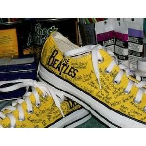 Converse Hand Painted All Star Beatles Custom Canvas