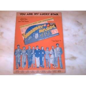 You Are My Lucky Star   Broadway Melody of 1936 Sheet Music