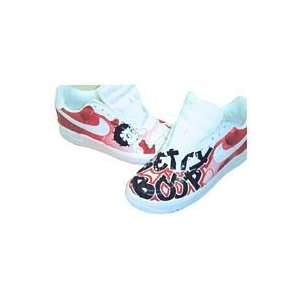 Custom Painted Cartoon Nike Air Force One Low Top (White/Betty Boop