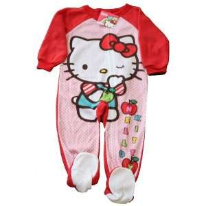 Hello Kitty Toddler Footed Pajama Sleepwear Size 2T