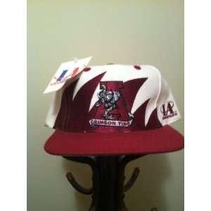 Alabama Crimson Tide Vintage Sharktooth Snapback Hat