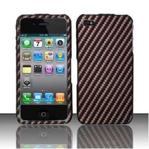Apple iPhone 4g Carbon Fiber Hard Case   BLACK + Mini Nano