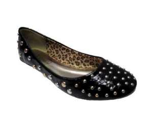 Colours Ladies Flat Studded Dolly Pump/Shoe Sizes 3 8