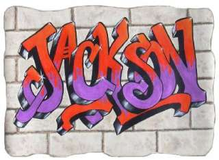 GRAFFITI NAME Mural, 10 high, Wallpaper Art, CUSTOM