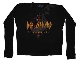 Def Leppard Logo Pyromania Rock Band Thermal Long Sleeve T Shirt Tee