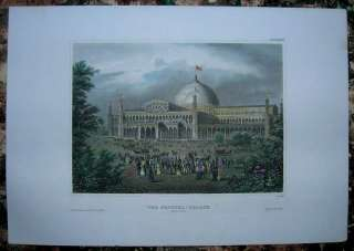 1857 Meyer print CRYSTAL PALACE, NEW YORK CITY