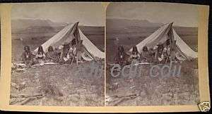 Ute Indian Colorado Native American Stereoview Photo CO