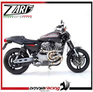 Zard Racing Full Exhaust System, Carbon Muffler for Harley Davidson XR