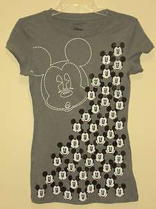 Disney Gray Mickey Mouse Little Faces Allover T shirt