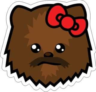 Hello Kitty Chewbacca Sticker 3.5 x 3.5