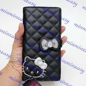 Sanrio Hello kitty black Long Zipped Coins wallet Purse