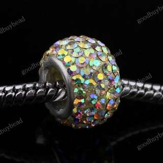 CZECH CRYSTAL AUTHENTIC 925 STERLING SILVER FINDINGS EUROPEAN CHARM