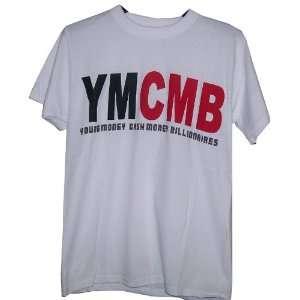 YMCMB White T Shirt Lil Wayne Drake Size Medium Sports