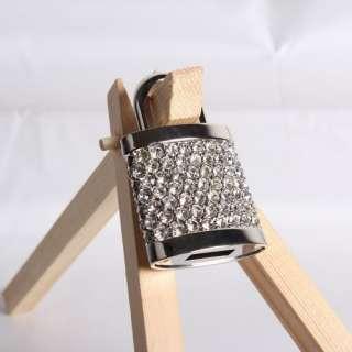 Cute Crystal Lock Usb Pen Flash Drive Flash Memory 4GB