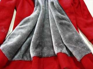 Korean Fashion Womens Thicken Hooded Warm Outerwear Jackets Winter
