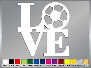 LOVE SOCCER FUTBOL cut vinyl decal car sticker #1