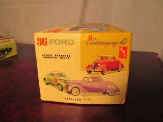 AMT 36 FORD STOCK ROADSTER CHOPPED COUPE CAR MODEL KIT BOX ONLY