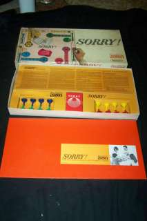 Vtg 1964 SORRY Board Game Parker Brothers COMPLETE Very Good