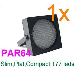 PAR Slim 64 RGB 177 LED Stage DJ Disco Light DMX 10ch