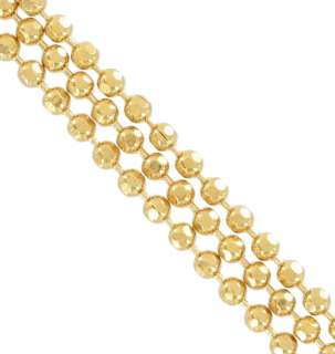 Joan Rivers Long 3 Strand Chain Faceted Balls Gold Tone Necklace