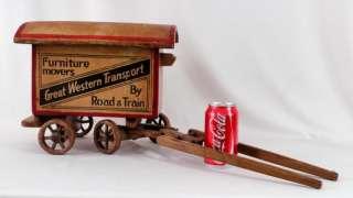Estate Folk Art Advertising Great Western Transport Horse Drawn Wagon