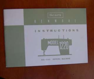 Kenmore Model 1220 Sewing Machine Instruction Manual