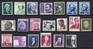 Prominent Americans Series #1278 95  XF MNH OG SET (REM #1278 754