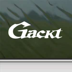 Gackt White Sticker Jrock Japanese Car Vinyl Window Laptop