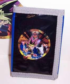 Yu Gi Oh YUGIOH Blue/Black TRI FOLD WALLET Card Case Holder NEW