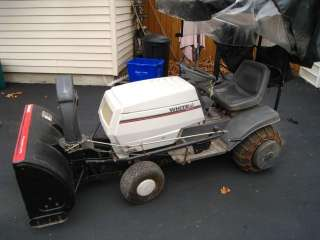 16HP White (MTD) 40 Two Stage Tractor Snowblower w/New Battery WORKS