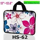Flowers Neoprene Case Cover Handle Bag for All 17 17.3 inch Laptop
