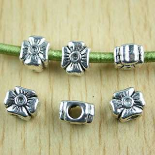 20 Tibetan silver cross spacer bead fit bandora h1414
