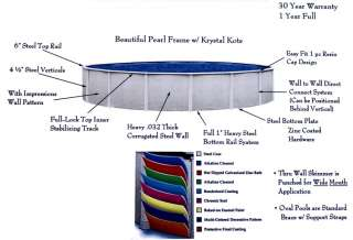 Reprieve 15 x 30 x 48 Oval Above Ground Metal Frame Swimming Pool