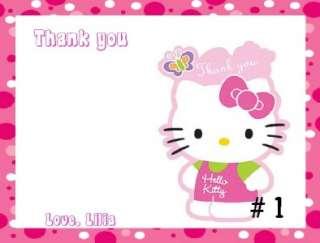 10 CUSTOM HELLO KITTY B DAY INVITATIONS OR THANK YOUS