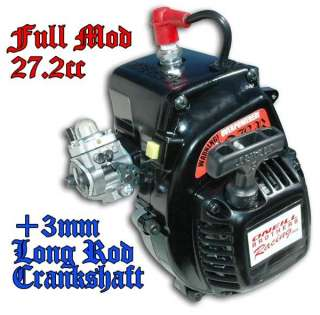 1716   7.5hp Full Mod Zenoah 4 Bolt 27.2cc +3mm LONG ROD Engine