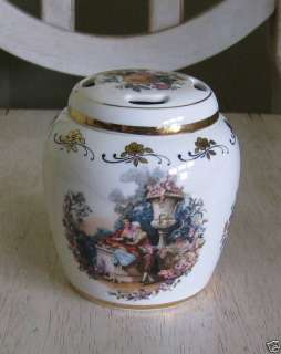 Lord Nelson Pottery England Potpourri Ginger Jar Floral