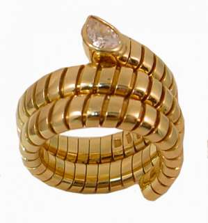 Bulgari, TUBOGAS, Serpent Ring Diamond Gold #8498