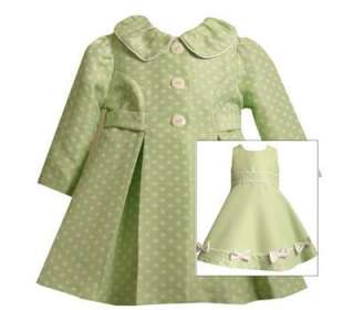 Bonnie Jean Baby Girls Easter Spring Green Dress Coat 18M
