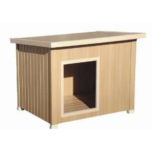 New Age Pet All Weather Insulated Dog House   Brown Rustic