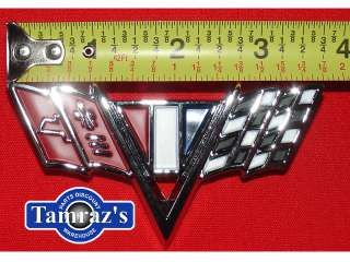 1965 1966 1967 Chevy II Nova Fender Emblems V Flag
